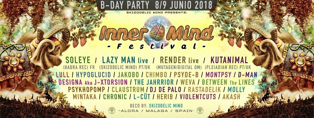 Skizodelic Mind Events: Inner Mind Festival. B-Day Party 9 Jun '18, 22:00