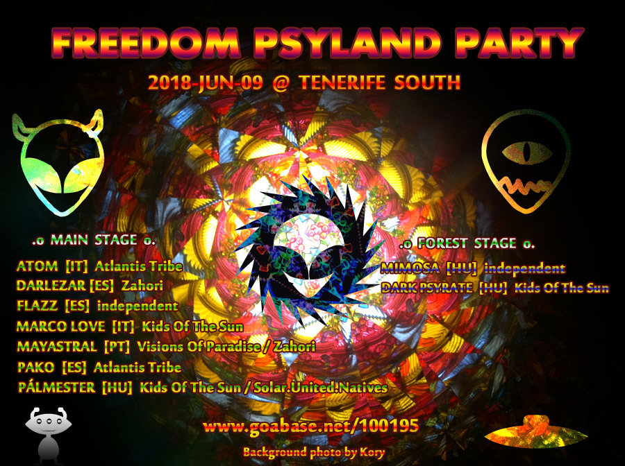 Freedom PsyLand Party 9 Jun '18, 18:00