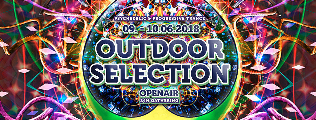 Party flyer: Outdoor Selection Openair 2018 9 Jun '18, 14:30