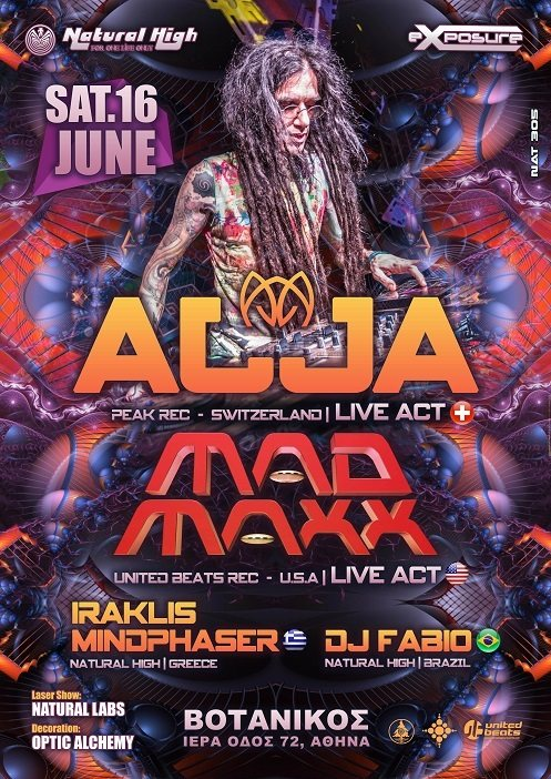 Natural Exposure presents AJJA & MAD MAXX in Athens on Sat 16 June !!! 16 Jun '18, 23:00