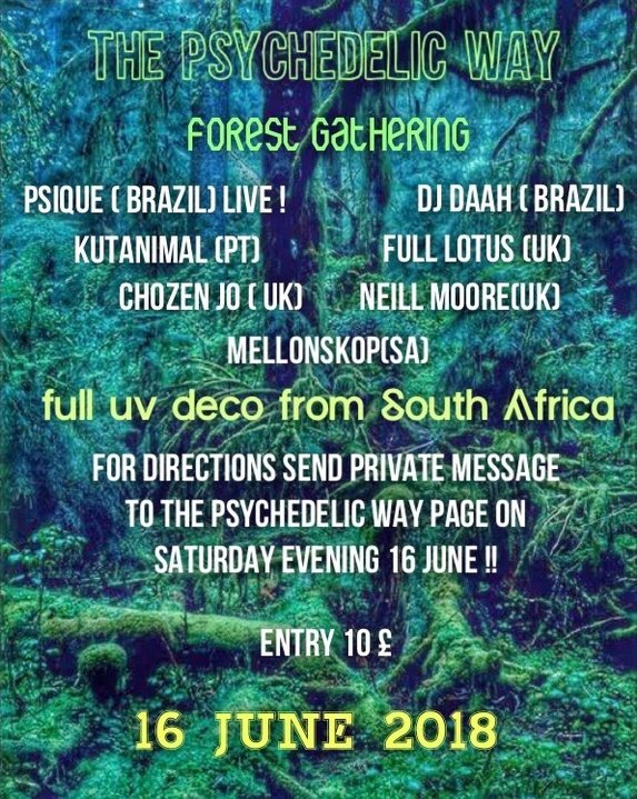 The Psychedelic Way Forest Gathering 16 Jun '18, 23:00