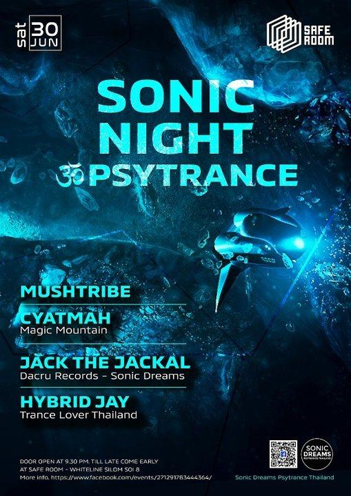 Sonic Night ॐ Psytrance at Safe Room 30 Jun '18, 21:30