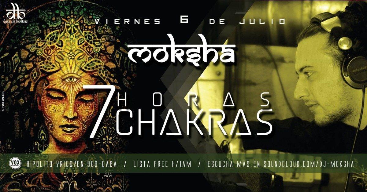 Dancing Budhas features Dj Moksha 7 Chakras 7hs 6 Jul '18, 23:30