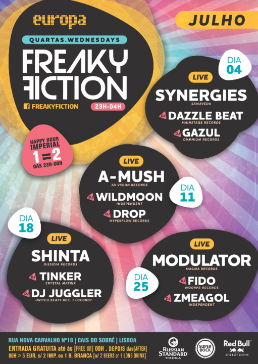 FREAKY FICTION 11 Jul '18, 23:00