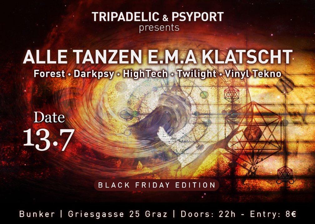 ALLE Tanzen EMA Klatscht Black Friday Edition 13 Jul '18, 22:00