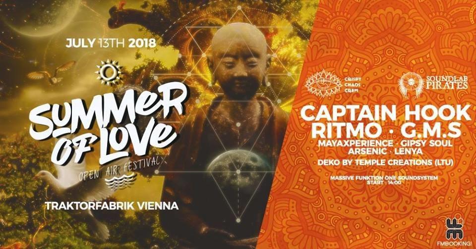 Summer of Love 2018 - Open Air Festival Vienna: Day 1 13 Jul '18, 14:00