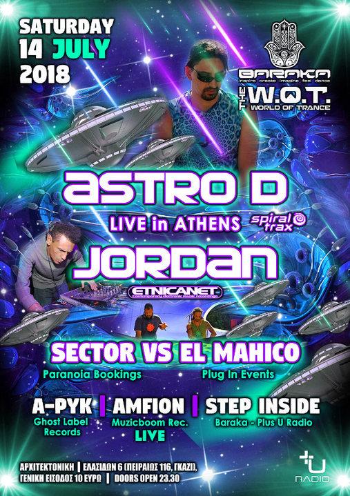 Astro-D Live Athens & Jordan (EtnicaNet) & Sector VS El Mahico! 14 Jul '18, 23:30