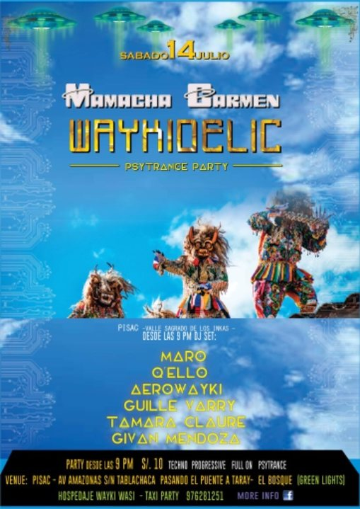 Waykidelic presents: Mamacha Carmen edition 14 Jul '18, 22:00