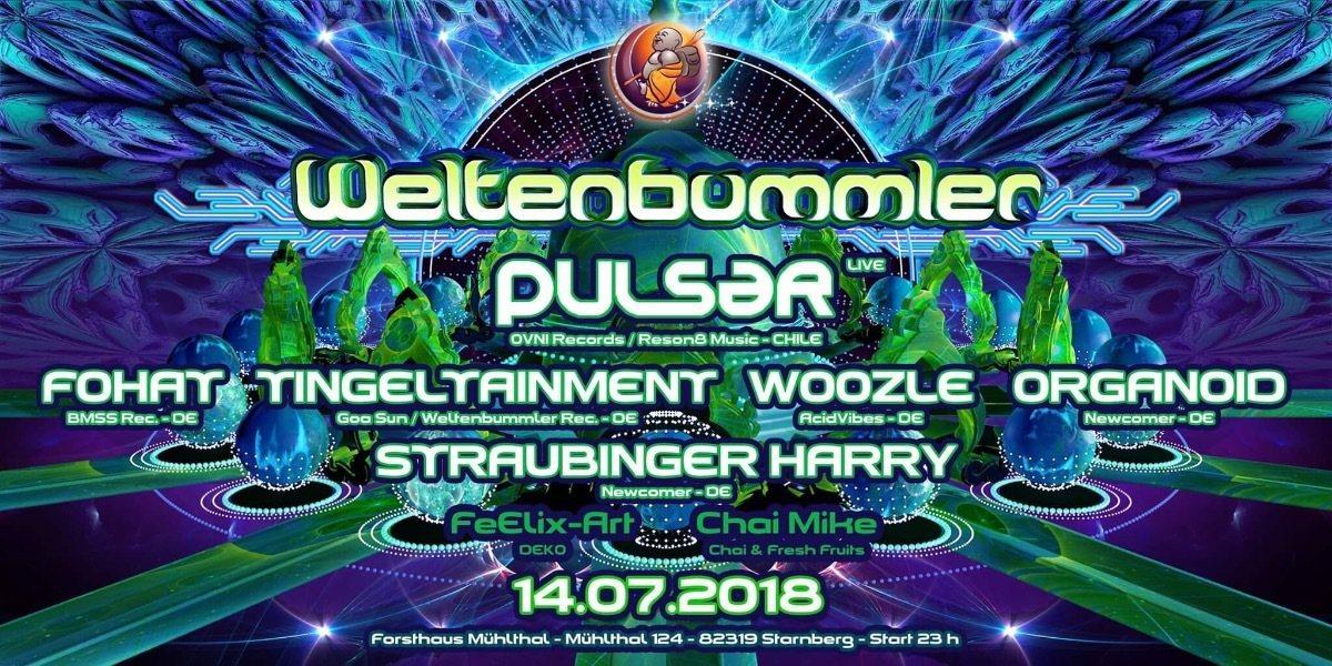 Weltenbummler with Pulsar (live) 14 Jul '18, 23:00