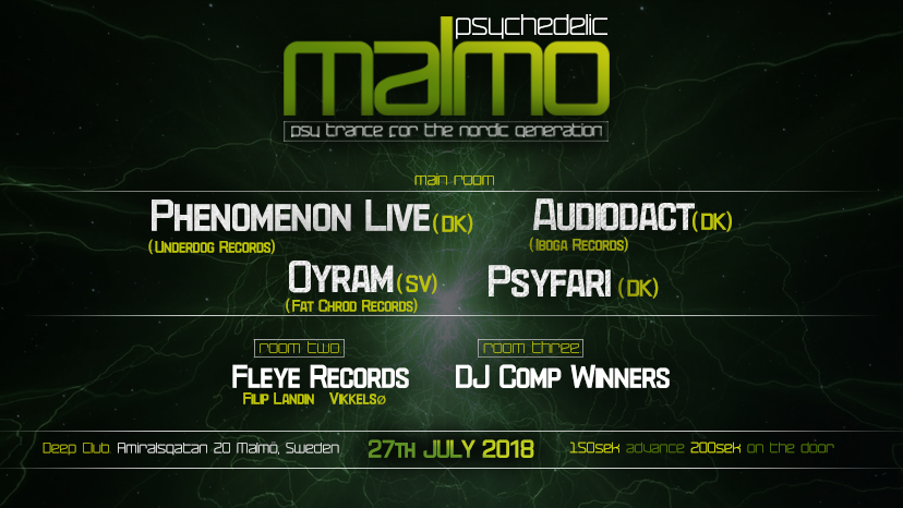 Psychedelic Malmo Launch Party 27 Jul '18, 23:00