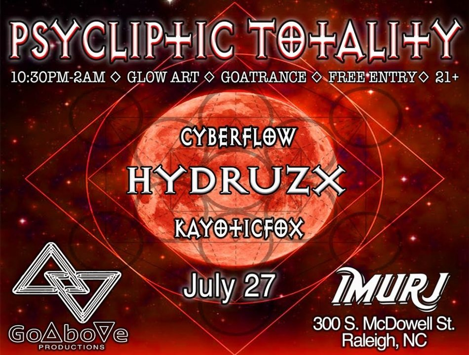 Psycliptic Totality 27 Jul '18, 22:30