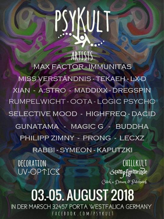 PSYKULT@Festivalkult U&D 2018 3 Aug '18, 20:00