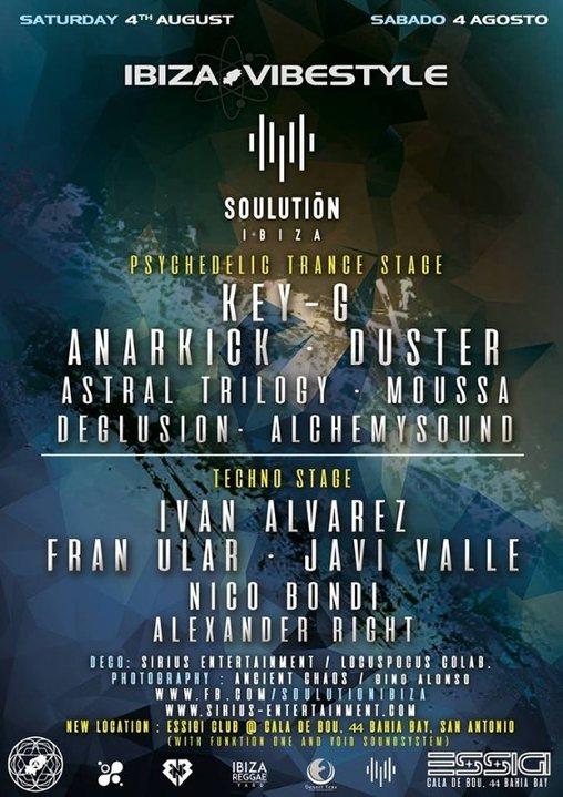 Ibiza Vibestyle & Soulution ibiza at New CLUB ESSiGi 4 Aug '18, 22:00