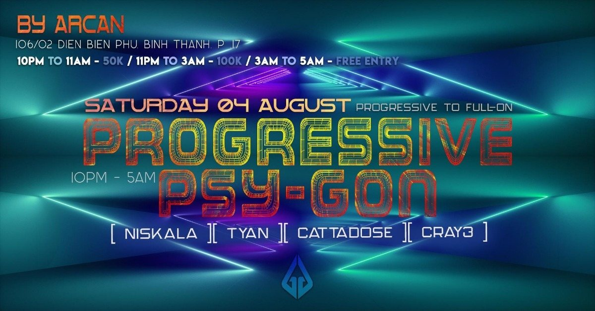 Progressive Psy-Gon 4 Aug '18, 22:00