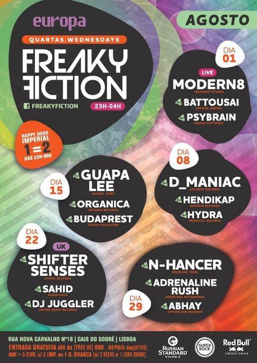 FREAKY FICTION 8 Aug '18, 23:00