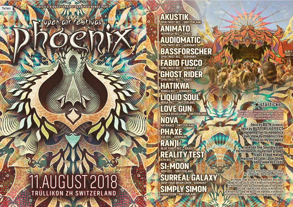 Phoenix Festival 2018 · 11. Aug 2018 · Zürich / Trüllikon (Schweiz) 11 Aug '18, 12:00