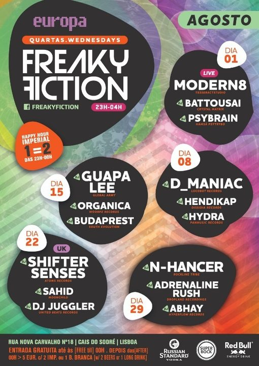 FREAKY FICTION 15 Aug '18, 23:00