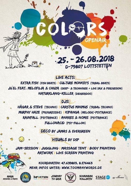 Colors 25 Aug '18, 10:00