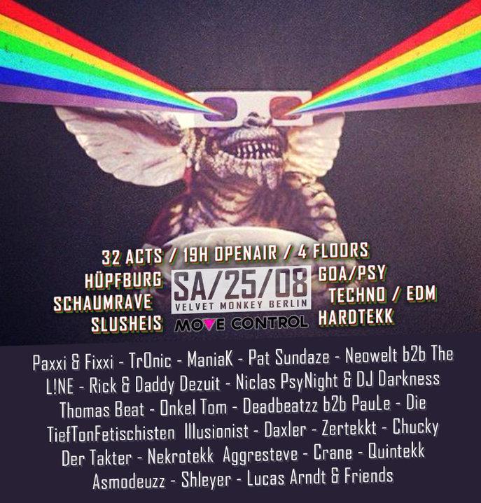 Move Control OpenAir 3 mit Hüpfburg & SchaumFloor + Clubnight 25 Aug '18, 15:00