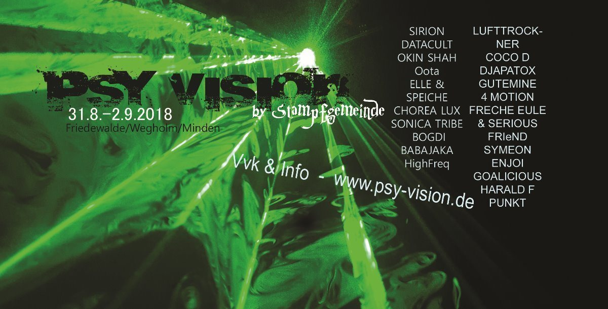 PSY VISION 31 Aug '18, 18:00