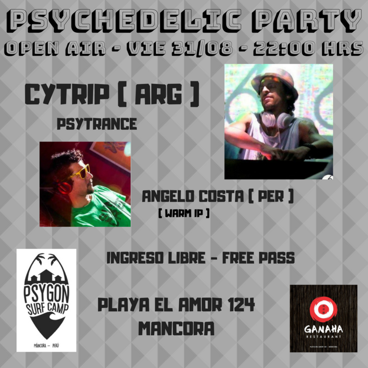 Psychedelic Party - open air 31 Aug '18, 22:00