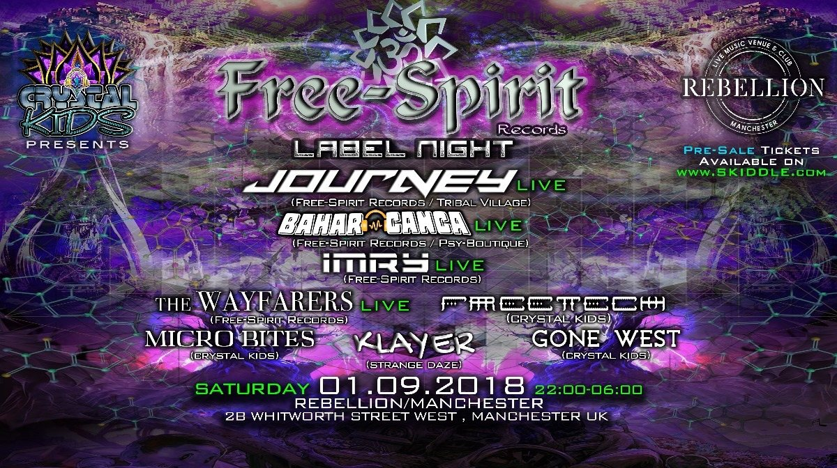 Free-Spirit Records Label Night 1 Sep '18, 22:00