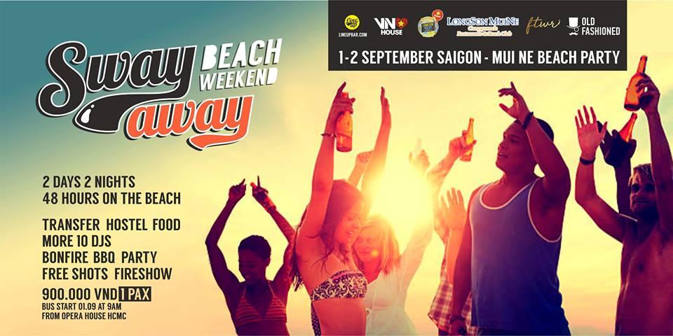Sway Away Beach Weekend 1 Sep '18, 09:00