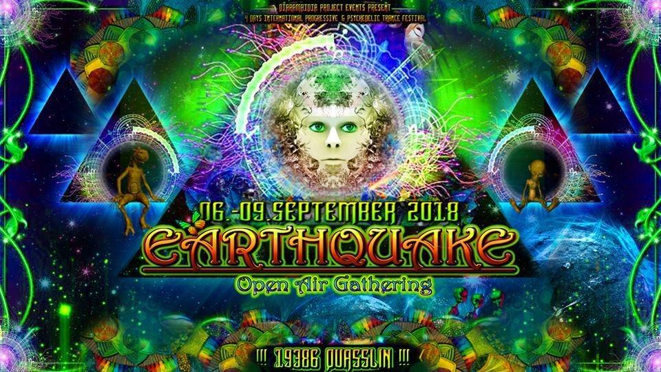 Earthquake Open Air Gathering 2018 6 Sep '18, 22:00