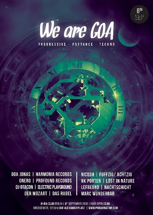 We are GOA | 5€ Summer-Edition 8 Sep '18, 23:00