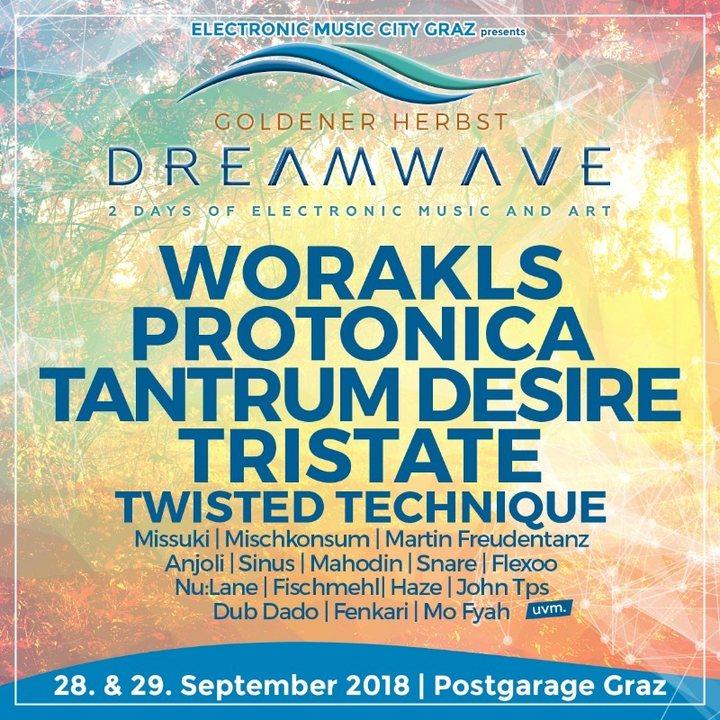 "Dreamwave ""goldener Herbst"" Postgaragen Festival 28 Sep '18, 22:00"