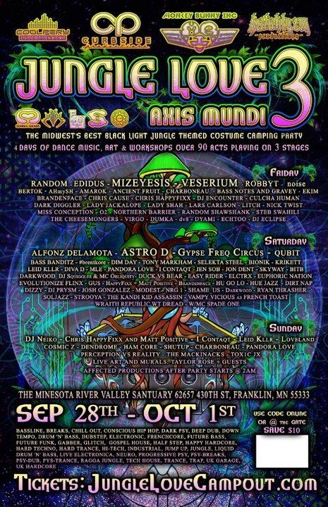 Jungle Love 3: Axis Mundi 28 Sep '18, 12:00