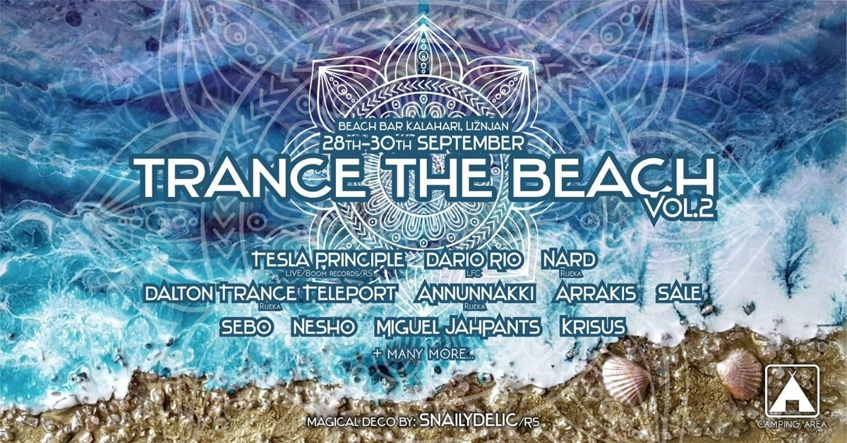 TRANCE THE BEACH#2 28 Sep '18, 21:00