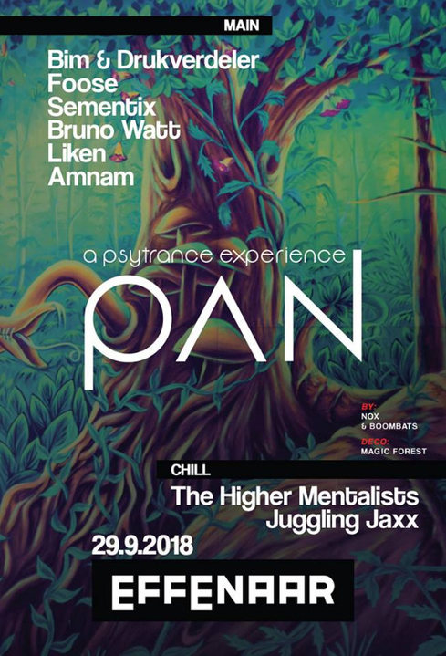 Pan: psytrance experience 29 Sep '18, 22:00