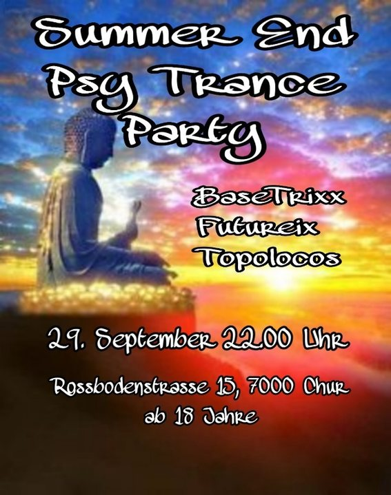 Summer End Psy-Trance Party 29 Sep '18, 22:00