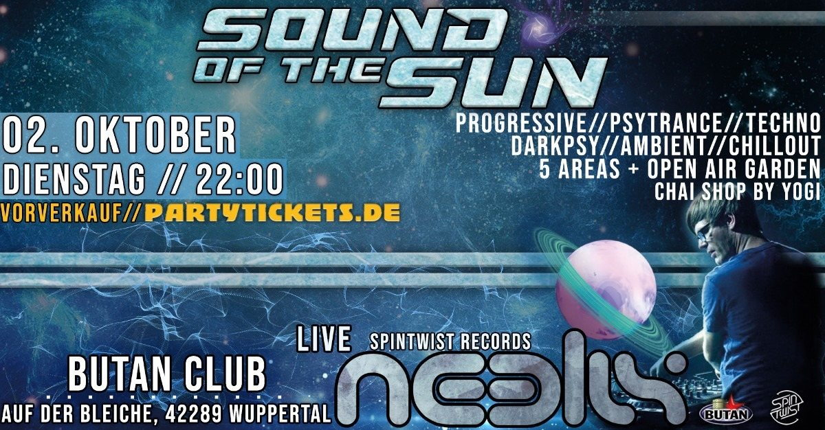 Sound of the Sun / Indoor Festival / 5 Areas / Neelix Live