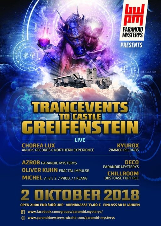 TRANCeVENTs to CASTLE GREIFENSTEIN 2 Oct '18, 21:00
