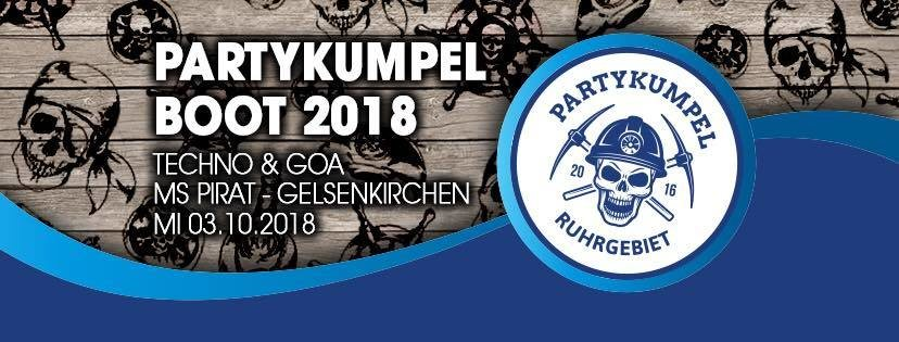 Partykumpel Boot 2018 :: Techno & Goa auf 3 Decks 3 Oct '18, 12:00