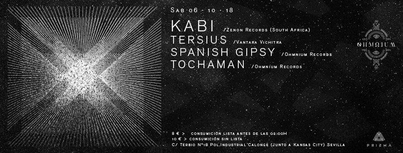 Ohmnium Records Present. Kabi & Tersius Live 6 Oct '18, 23:30