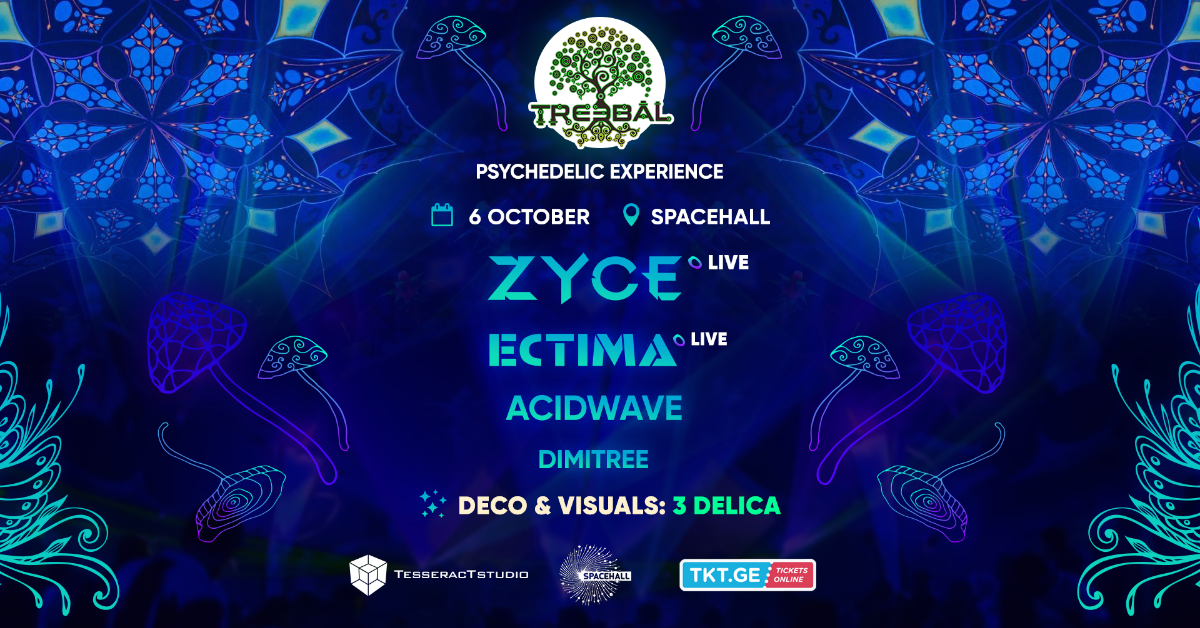 TREEBAL: ZYCE • ECTIMA • ACIDWAVE • DIMITREE at SPACEHALL 6 Oct '18, 23:00