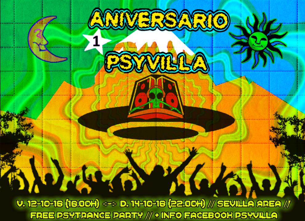1º ANIVERSARIO PSYVILLA 12 Oct '18, 18:00