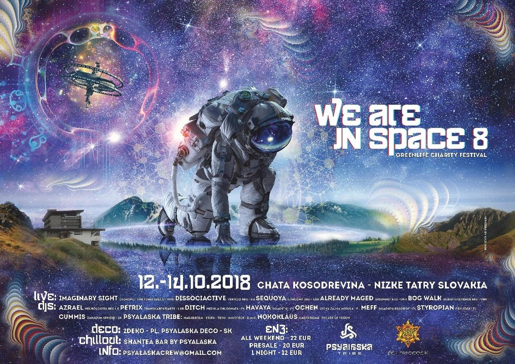 WE ARE IN SPACE 8 charity festival 12 Oct '18, 22:00