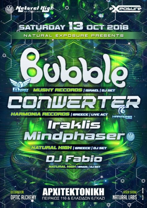 Natural Exposure presents Bubble & Conwerter in Athens !!! 13 Oct '18, 23:30
