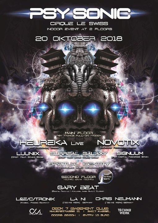 ·•●❂ PsySonic °Cirque le Swiss° ❂●•· 20 Oct '18, 22:00