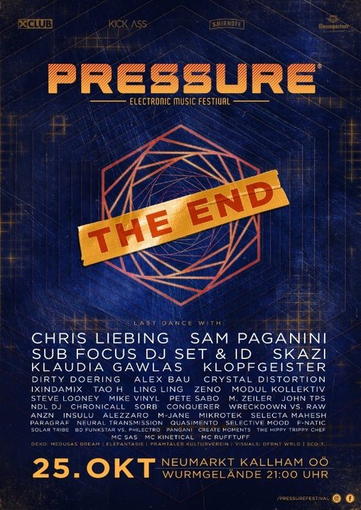PRESSURE FESTIVAL - THE END 2018 25 Oct '18, 21:00