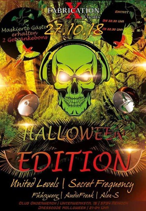 Fabrication XL Halloween Edition 27 Oct '18, 21:00