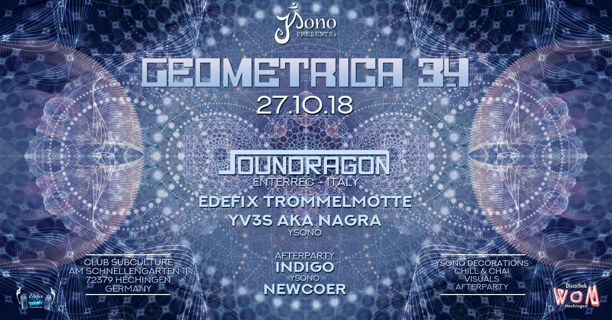 Geometrica 3.4 with Soundragon-Enterec (IT) / Yv3s Bday-Bash 27 Oct '18, 22:00