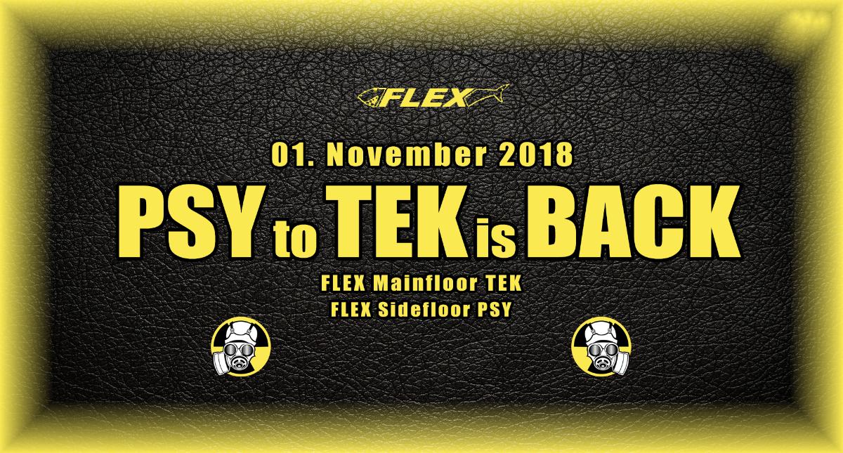 PSY to TEK is BACK 1 Nov '18, 22:00