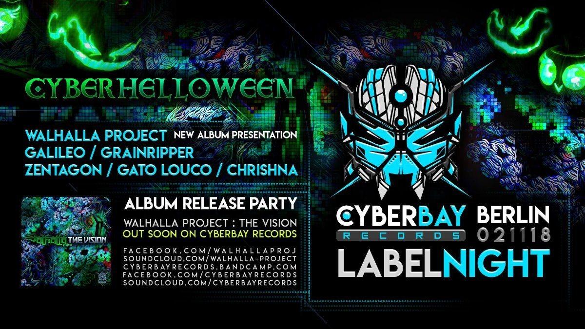 CyberBay Night - Berlin - Walhalla New Album Party release 2 Nov '18, 23:30