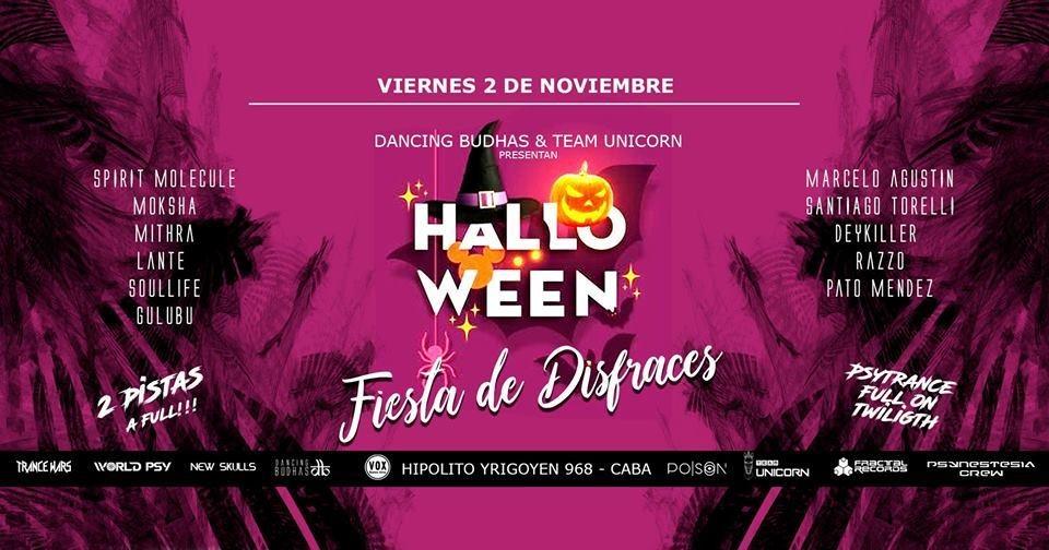 Dancing Budhas & Team Unicorn presents Psy Halloween 2 Nov '18, 23:30