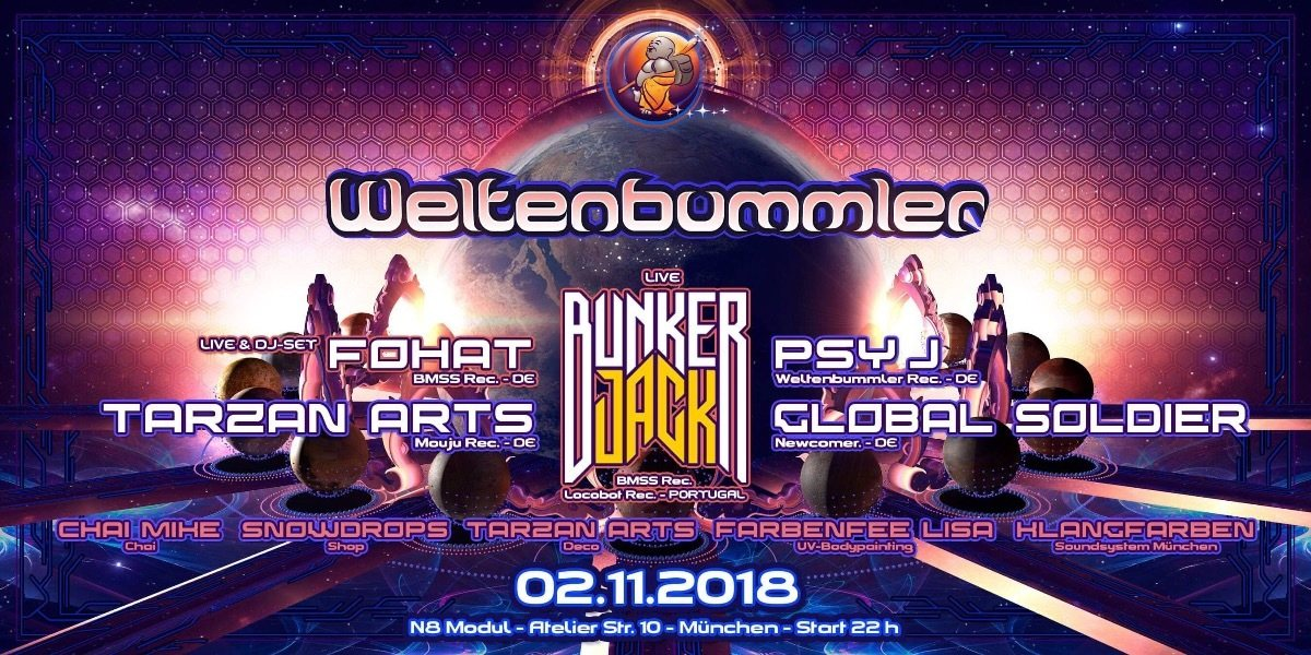 Weltenbummler with Bunker Jack 2 Nov '18, 22:00